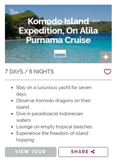 Komodo Island Expedition on Alila Purnama Cruise
