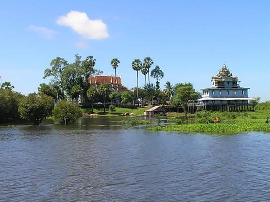Riverside monastery near Battambang