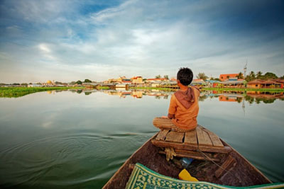 Whether it is a Lake or a River, Cambodian Countryside Life stays the same on the Tonle Sap 1