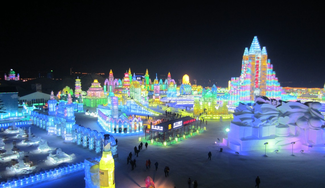 Harbin international ice and snow sculpture festival exo