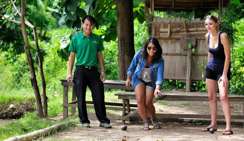 top 5 asian sports: petanque in laos
