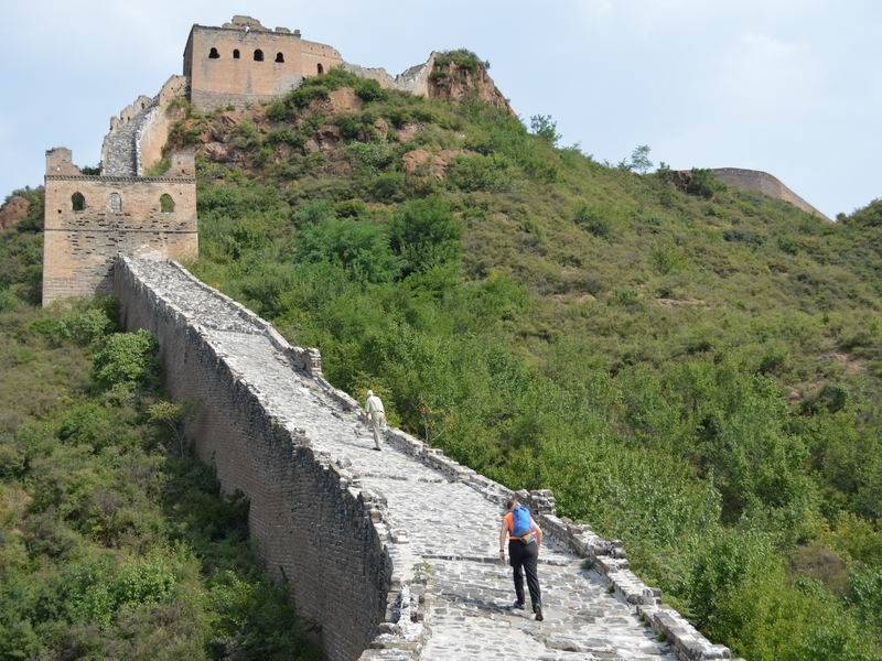 Photo of Picnic with Wine and Cheeses on the Great Wall, china