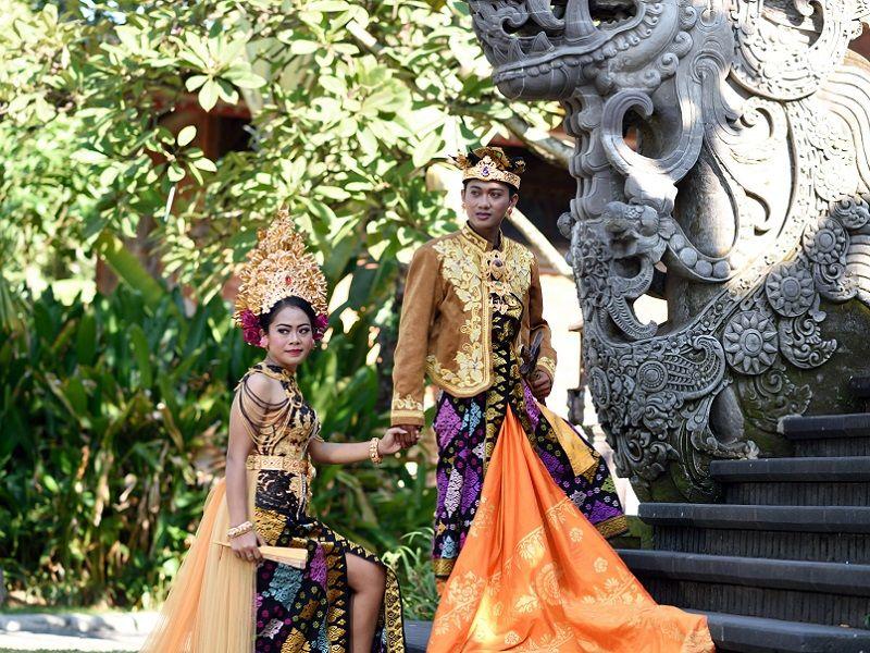 Photo Of Traditional Balinese Wedding Ceremony Indonesia
