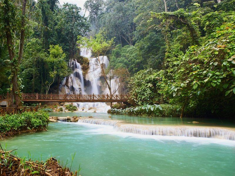 Photo of Kuang Si Waterfalls, laos