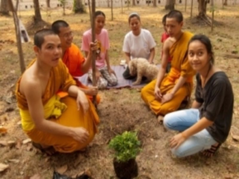 Photo of Monks and Charities of Vientiane, laos