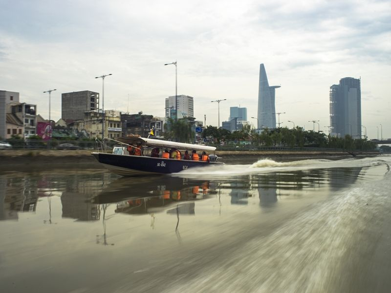 Photo of Sunset on Saigon River by Speedboat (SIC), vietnam